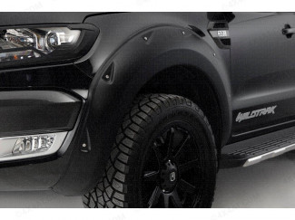 Ford Ranger Wheel arches in Matte Black with rivets