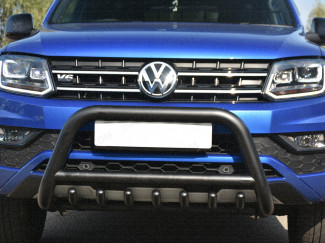 VW Amarok 2017 Onwards A Bar With Cross Bar And Axle Bar In Black