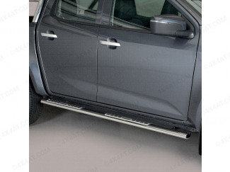 Nissan Navara 2015 Onwards Double Cab Stainless Steel Sidebars