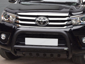Toyota Hilux 2016 EC A-Bar With Axle Plate In Black
