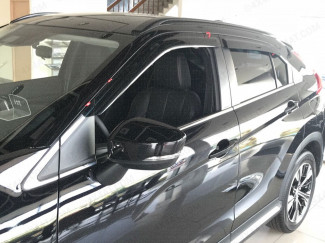 Adhesive tinted Mitsubishi Eclipse Cross 2017 on wind deflectors