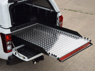 Chequer-plate heavy duty bed slide fitted to a L200