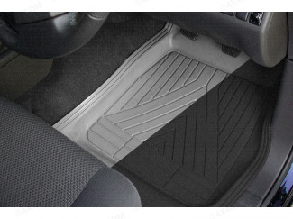 4 Piece Rubber Deep Tray Universal Floor Mud Mats