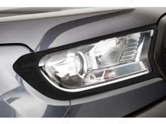 Ford Ranger matte black head lamp surrounds