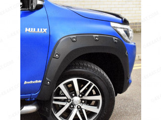 Toyota HIlux double cab fitted with wheel arch extensions