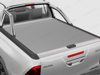Toyota Hilux Mountain Top Roll - Silver Roller Shutter