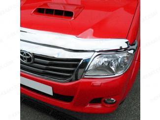 Toyota Hilux 2012 - 2016 Bonnet Guard (Chrome Finish)
