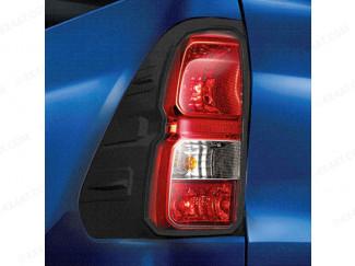 Toyota Hilux black tail light surround