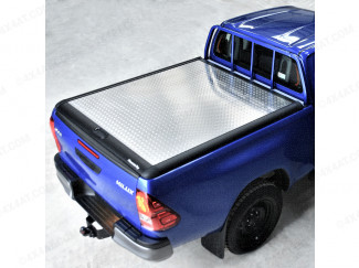 TOYOTA HILUX EXTRA CAB 2016 ONWARDS LADDER RACK OPTION CHEQUER PLATE LOAD BED COVER