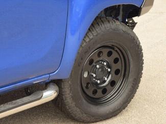 17 Inch Black Modular Steel Wheels for Toyota Hilux