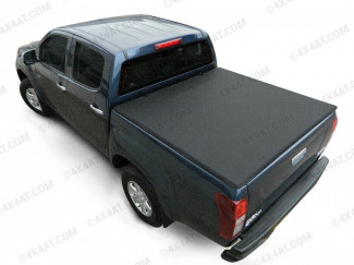Isuzu D-Max 2012 on Extra Cab Soft Tri-Fold Tonneau Cover-illustration