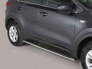 Kia Sorento Oval side bars with step in stainless steel