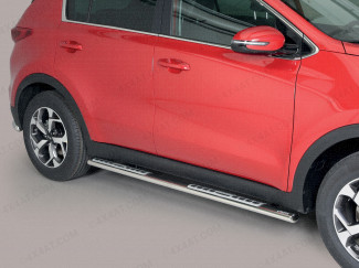 Kia Sportage 2016 On Stainless Steel Side Bar With Alloy Tread