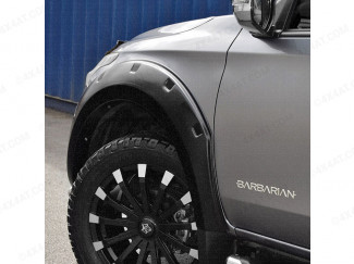 Mitsubishi L200 fitted with Matte Black Wheel Arches