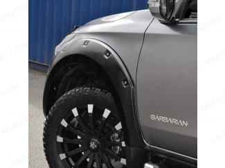 Mitsubishi L200 Double Cab 2015 On Wheel Arch Kit In Matte Black With Small Rivets