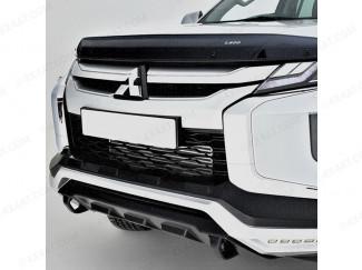 Mitsubishi L200 front bumper mask, LED Daytime Running Lights, matte black