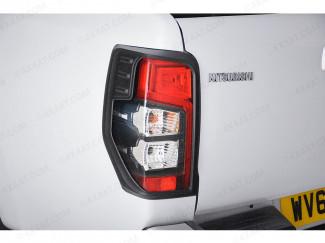Mitsubishi L200 Series 6 Rear Light Surrounds - Black