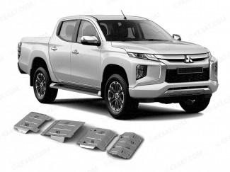 Mitsubishi L200 Series 6 Under Body Protection Kit - Aluminium