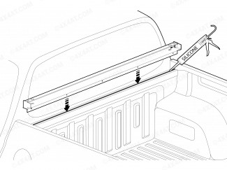 Black Metal Front Profile Section for Mountain Top Roller Shutter l200 2015 onwards