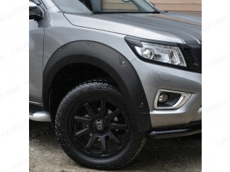 Nissan Navara NP300 2015-2016 X-Treme Wheel Arch Kit In Matte Black