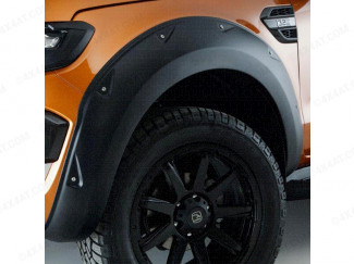 Isuzu D-Max Double Cab 2012 On Wheel Arch Kit In Matte Black With Small Rivets