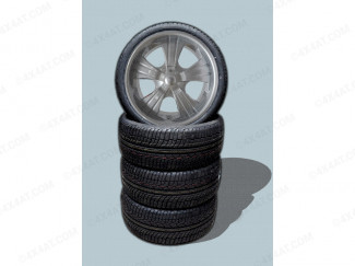 Wheel and Tyre Package 22 x 9.5 Wheel 6:139 Miami Alloy Wheel and Accelera 285 35 22 Tyres