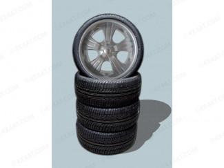 Wheel and Tyre Package 22 x 9.5 Mitsubishi Shogun Miami Satin Alloy Wheel and Accelera 285 35 22 Tyres