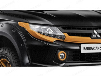 Orange Head Lamp Surrounds Mitsubishi L200 Series 5 SVP Model