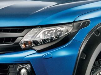 Fiat Fullback 2016 Onwards Head Light Garnish in Black