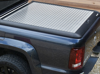 VW Amarok Mountain Top Alloy Chequer Plate Tonneau Cover