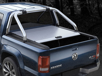 VW Amarok Mountain Top Roll - Silver Roller Shutter Tonneau Cover