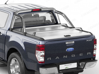 Ford Ranger Mountain Top Roll - Silver Roller Shutter