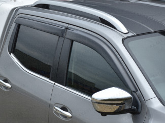 Adhesive fit wind deflectors for the Nissan Navara NP300 Double Cab