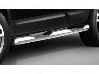Stainless Steel Side Bars With Steps Set by Cobra for a Nissan Qashqai