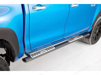 Toyota Hilux 2021 On Double Cab Black Sidebars Oval Mach
