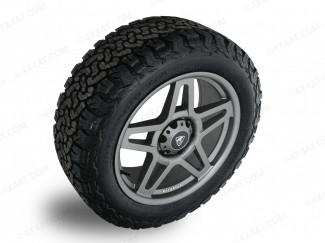 Predator Fox Matt Grey Alloy Wheels For New Ford Ranger 2019 On Pickup Truck