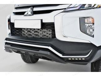 Mitsubishi L200 Front Bumper in black and chrome