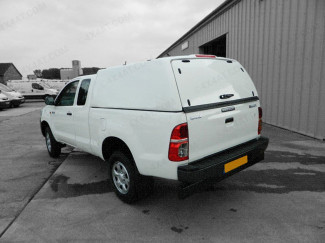 Toyota Hilux Carryboy Tradesman Truck Top With Glass Rear Door in White 040