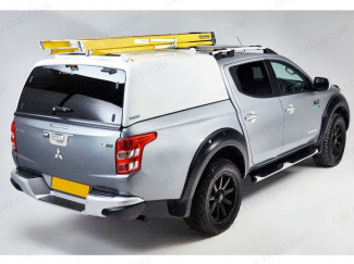 Pro//Top Tradesman Canopy With Glass Rear Door In U25 Silver For The Mitsubishi L200 Double Cab 2015 Onwards
