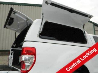 Ford Ranger Extra Cab Pro//Top Low Roof Gullwing Hard Top With Solid Rear Door In White with Central Locking