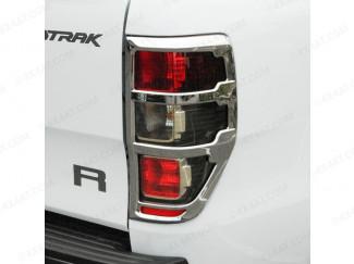 New Ford Ranger 2019 On Facelift Chrome Tail Lamp Surrounds