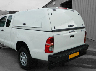 Workman Extra Cab Hard Top Canopy on Toyota Hilux - Rear Corner View