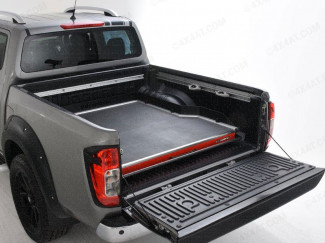 Nissan Navara D40 Wide Sliding Rhino Deck Black Textured Heavy Duty Bed Slide