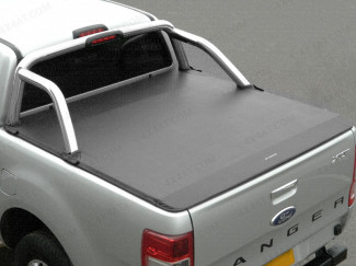 Ford Ranger 2019 On Double Cab Soft Tonneau Cover To Fit With OE Roll Bar