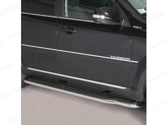 SsangYong Rexton 2013- Stainless Steel Wide Side Steps