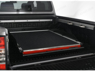 Rhino Deck Black Textured Heavy Duty Bed Slide for the Mitsubishi L200
