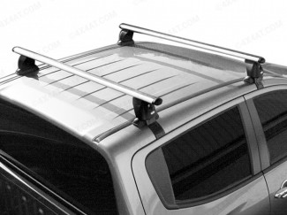 Roof bars fitted to a Mitsubishi L200 double cab pickup truck
