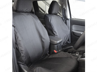 Fiat Fullback Tailored Waterproof Seat Covers Front View
