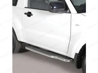 50mm stainless steel side steps for Toyota Landcruiser