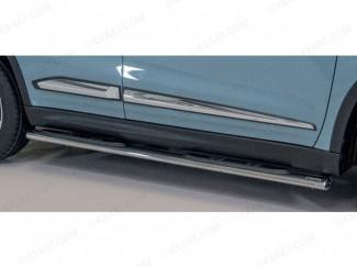 Suzuki Vitara 2019 Side Step Bars - Polished Stainless Steel Finish